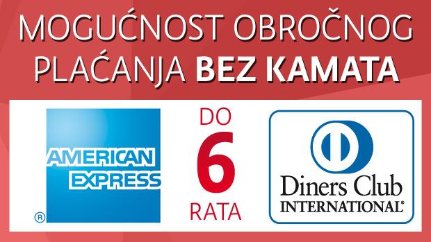 Mogućnost obročnog plaćanja bez kamata na www.mate.hr!